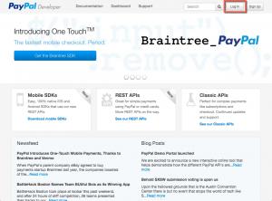 PayPal Developer Portal - Home Page