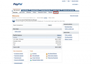 PayPal Merchant Manager - Profile Link
